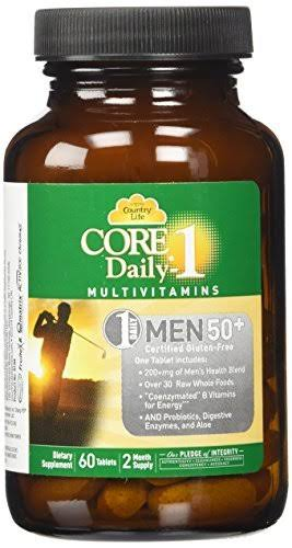 Country Life Core Daily 1 for Men 50 Plus Dietary Supplement - 60 Count
