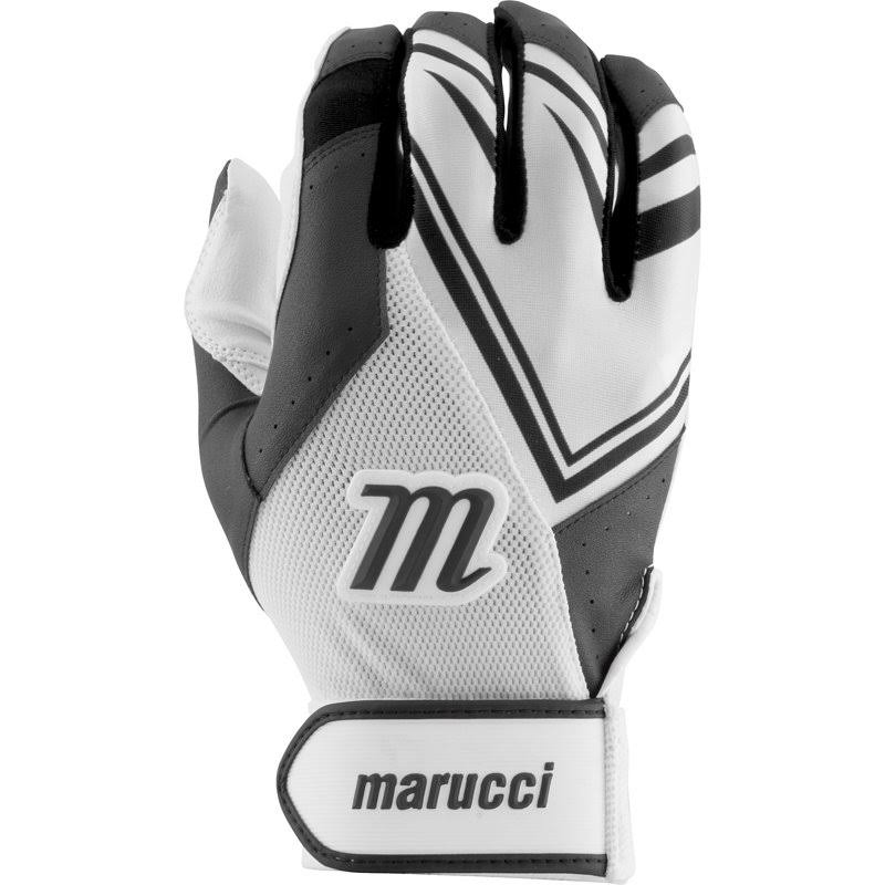 Marucci F5 Adult White/Black Small Batting Gloves