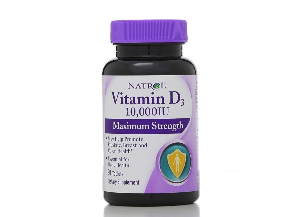 Natrol Vitamin D3 10000iu Maximum Strength