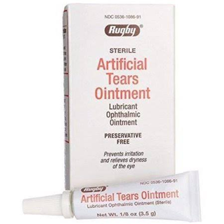 Rugby Artificial Tears Sterile Night Time Eye Lubricant Ointment - 3.5g