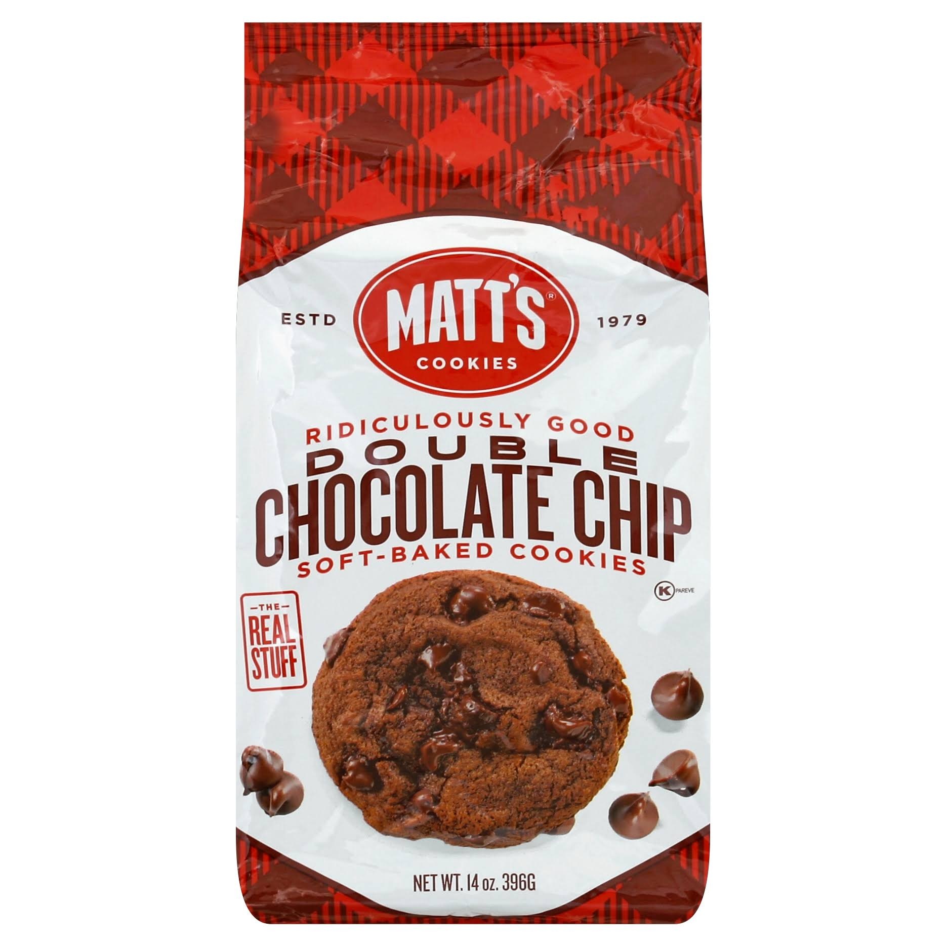 Matts Cookies Cookies, Soft-Baked, Double Chocolate Chip - 14 oz