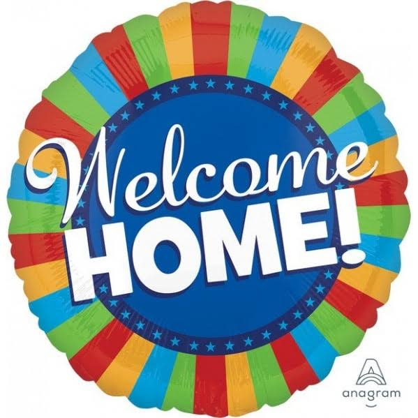 Amscan Welcome Home Colorful Blitz Mylar Foil Balloon - 32in
