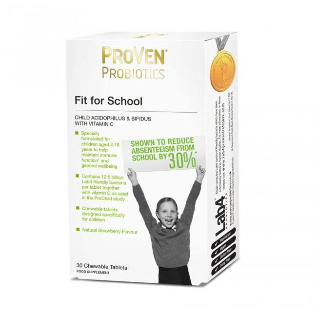 ProVen Probiotics Fit for School Vitamins Supplement - 30ct