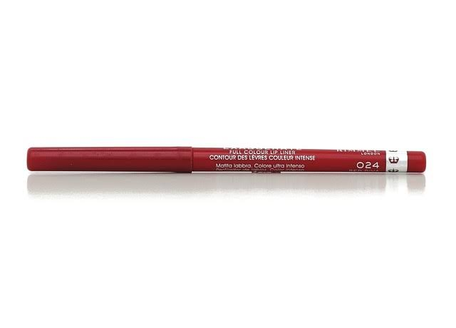 Rimmel London Exaggerate Full Colour Lip Liner - 024 Red Diva, 0.25g