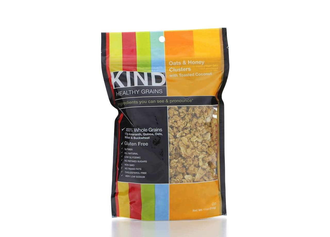 Kind Healthy Grain Bar - Oats and Honey Clusters with Toasted Coconut Granola, 11oz