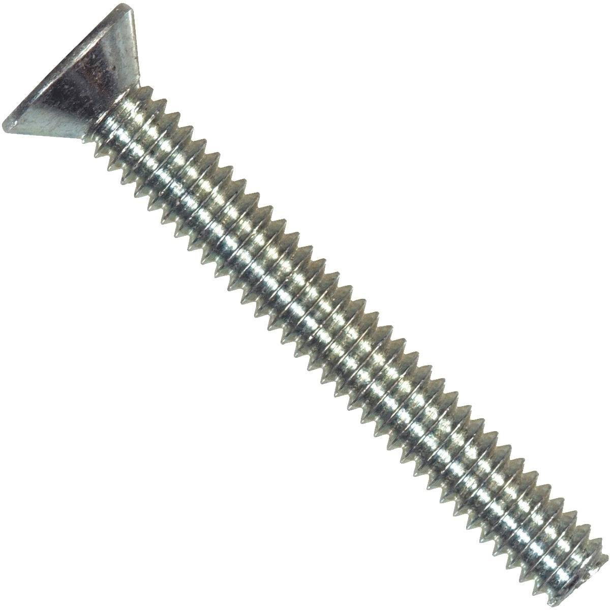 The Hillman Group Flat Head Phillips Machine Screw - No. 6-32 x 1""