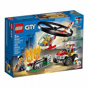 LEGO Fire Helicopter Response Building Toy - 93pcs