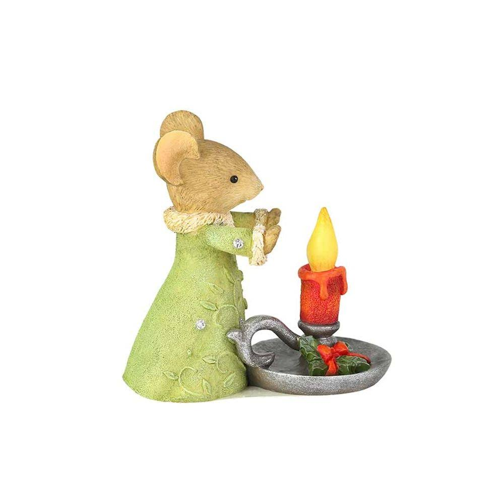 Enesco Tails with Heart Christmas Glow Figurine