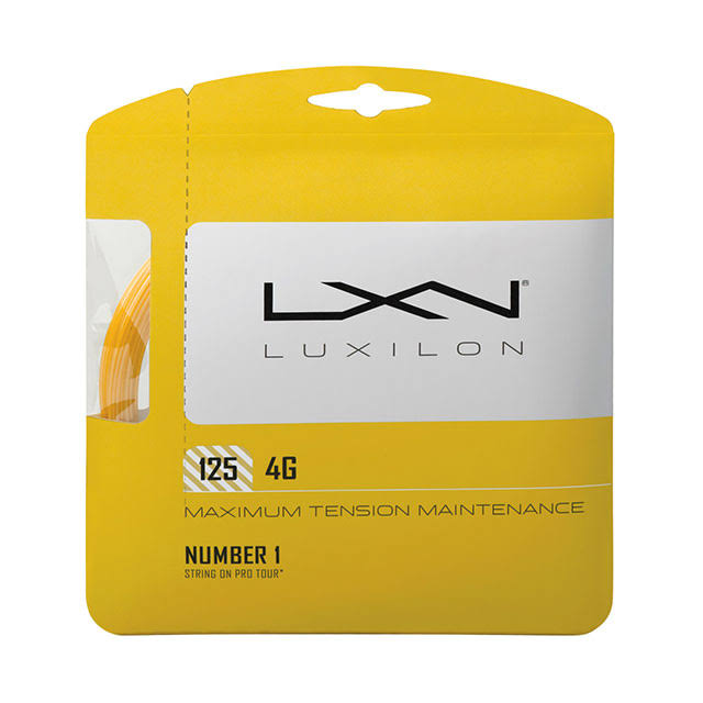 Luxilon 4G Tennis String - Gold, 16L Gauge, 1.25mm