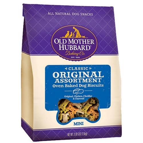 Old Mother Hubbard Classic Original Assortment Oven-Baked Dog Biscuits - Original, Chicken, Cheddar and Char Tar Flavors, 3.8lbs