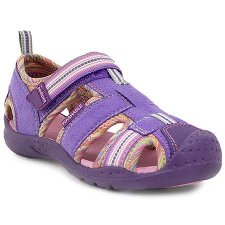 pediped Flex Sahara Sandal (Toddler/Little Kid) Lavender Rainbow / 21