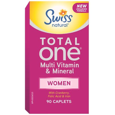 Swiss Natural Total One Women Multi Vitamin and Mineral Supplement - 90 Caplets