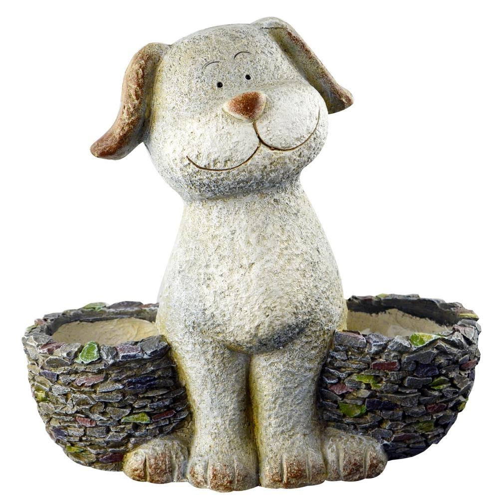 Red Carpet Studios 21054 3D Dog Planter - 14.17 x 7.68 x 13.19 in.