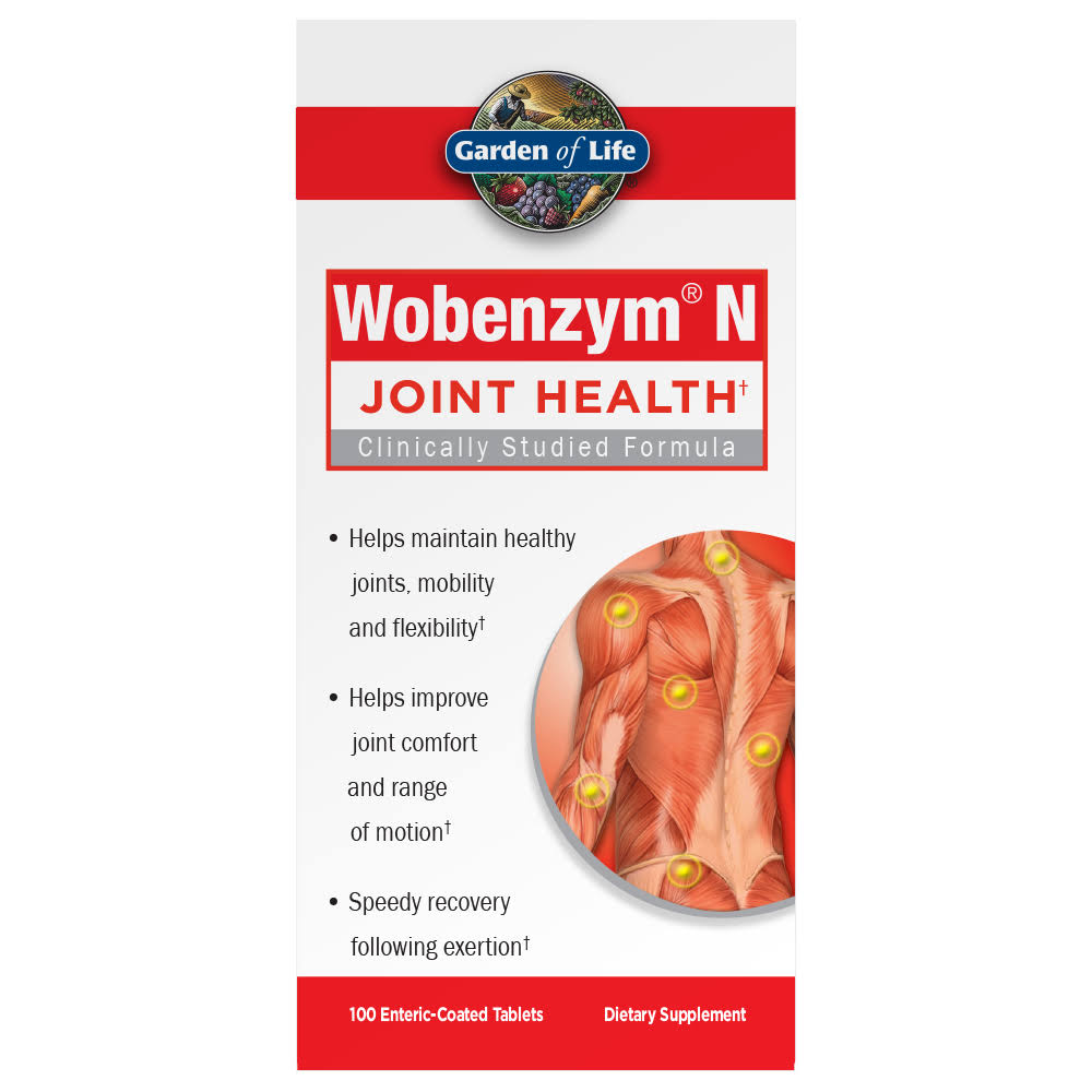 Garden of Life Wobenzym N Joint Health - 100 Tablets