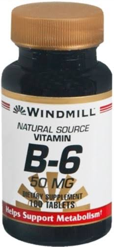 Windmill Vitamin B-6 50mg Tablets - x100