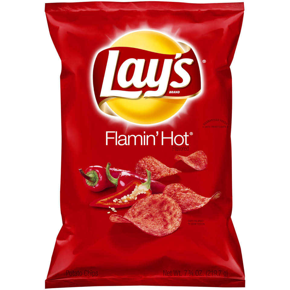 Lay's Potato Chips - Flamin' Hot Flavored, 7.75oz