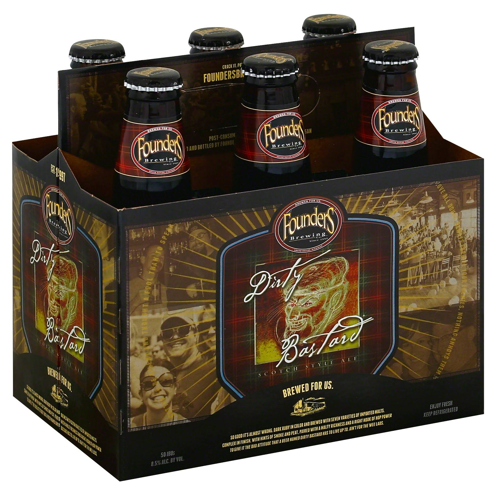 Founders Dirty Bastard Beer - 6 pack, 12 fl oz bottles