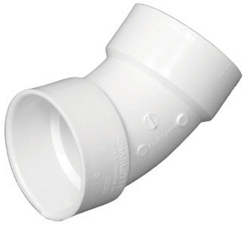 Charlotte PVC Pipe Elbow - White, 2''