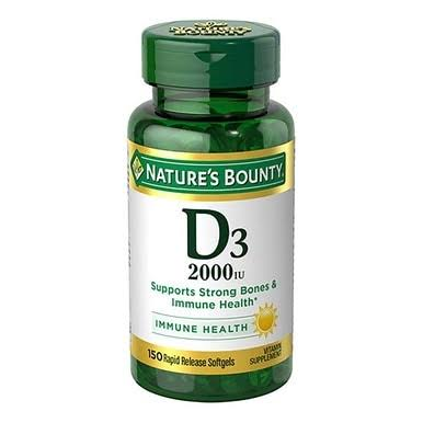 Nature's Bounty Super Strength D-2000 IU Softgels - 100 Softgels