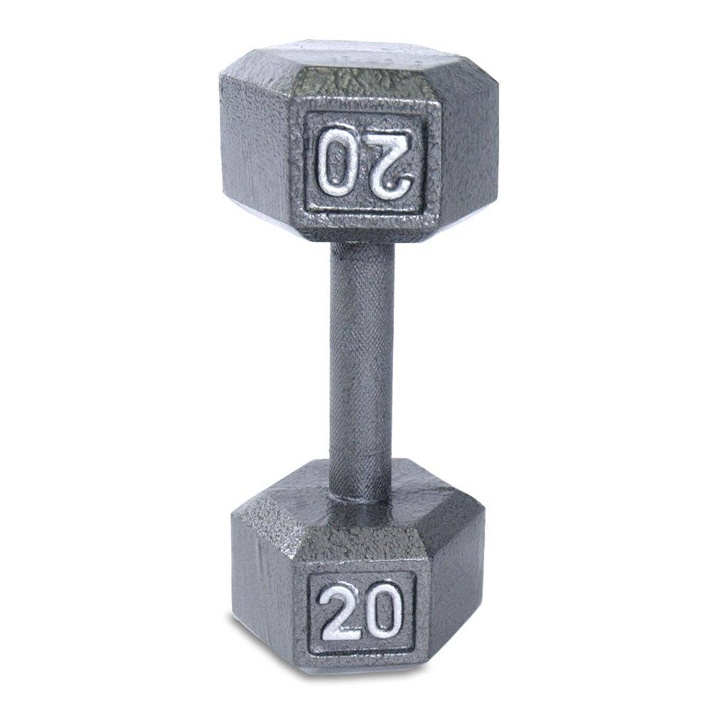 Cap Barbell Cast Iron Hex Dumbbell - 20lbs