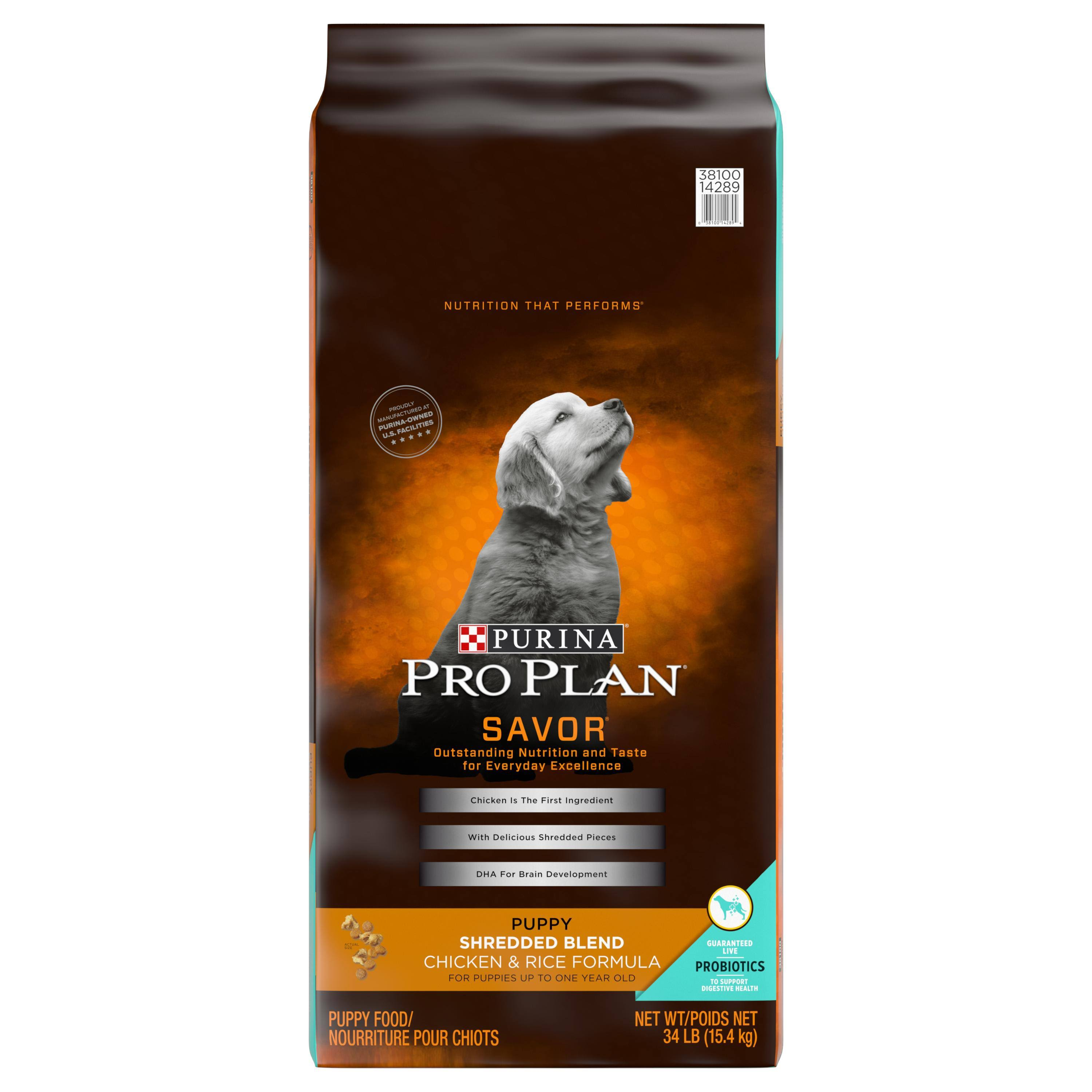 Purina Pro Plan Savor Shredded Blend Puppy Dry Dog Food - Chicken and Rice Formula, 34lb
