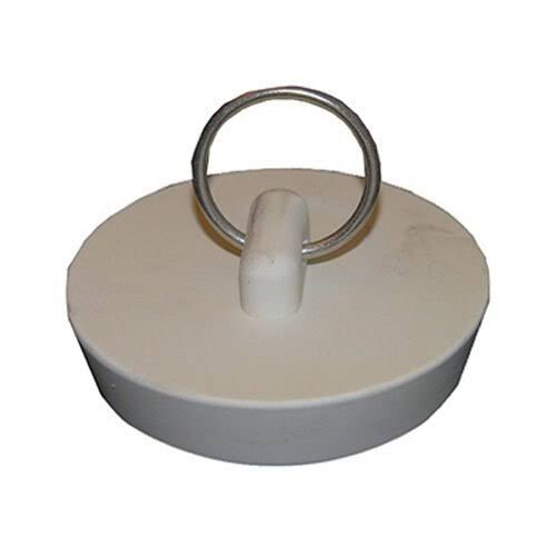 Lasco Rubber Hollow Drain Openings Stopper - White, 1 5/8""
