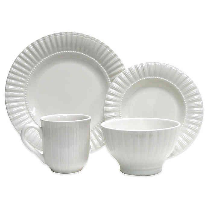 Thomson Pottery Masion Dinnerware Set - White, 16pcs