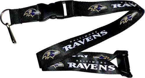 Aminco Baltimore Ravens NFL Team Lanyard Keychain - With Keyring Clip