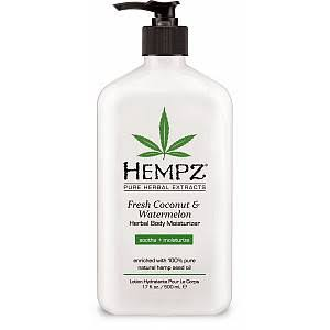 Hempz Herbal Moisturizer Body Lotion - Fresh Coconut & Watermelon, 17oz