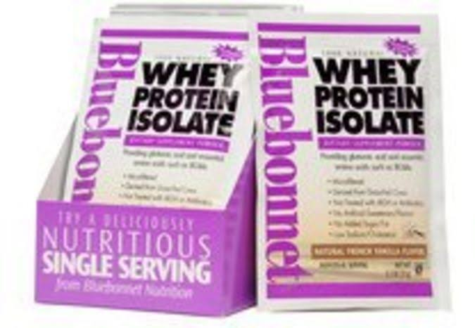Bluebonnet Nutrition 100% Natural Whey Protein Isolate Powder - Natural French Vanilla Flavour, 35ml