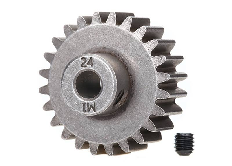 TRA6496X Traxxas Hardened Steel Mod 1.0 Pinion Gear - With 5mm Bore