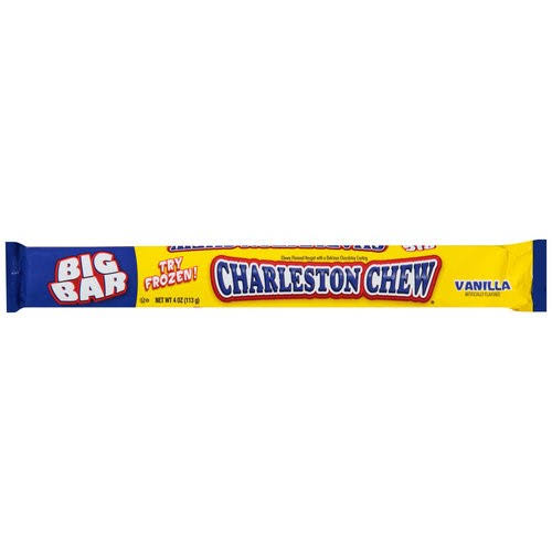 Charlestone Chew Chewy Nougat - With Chocolate, Vanilla, 4oz