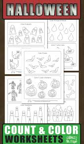 Childrens Halloween Books Pdf by Halloween Count And Color Worksheets Itsy Bitsy Fun