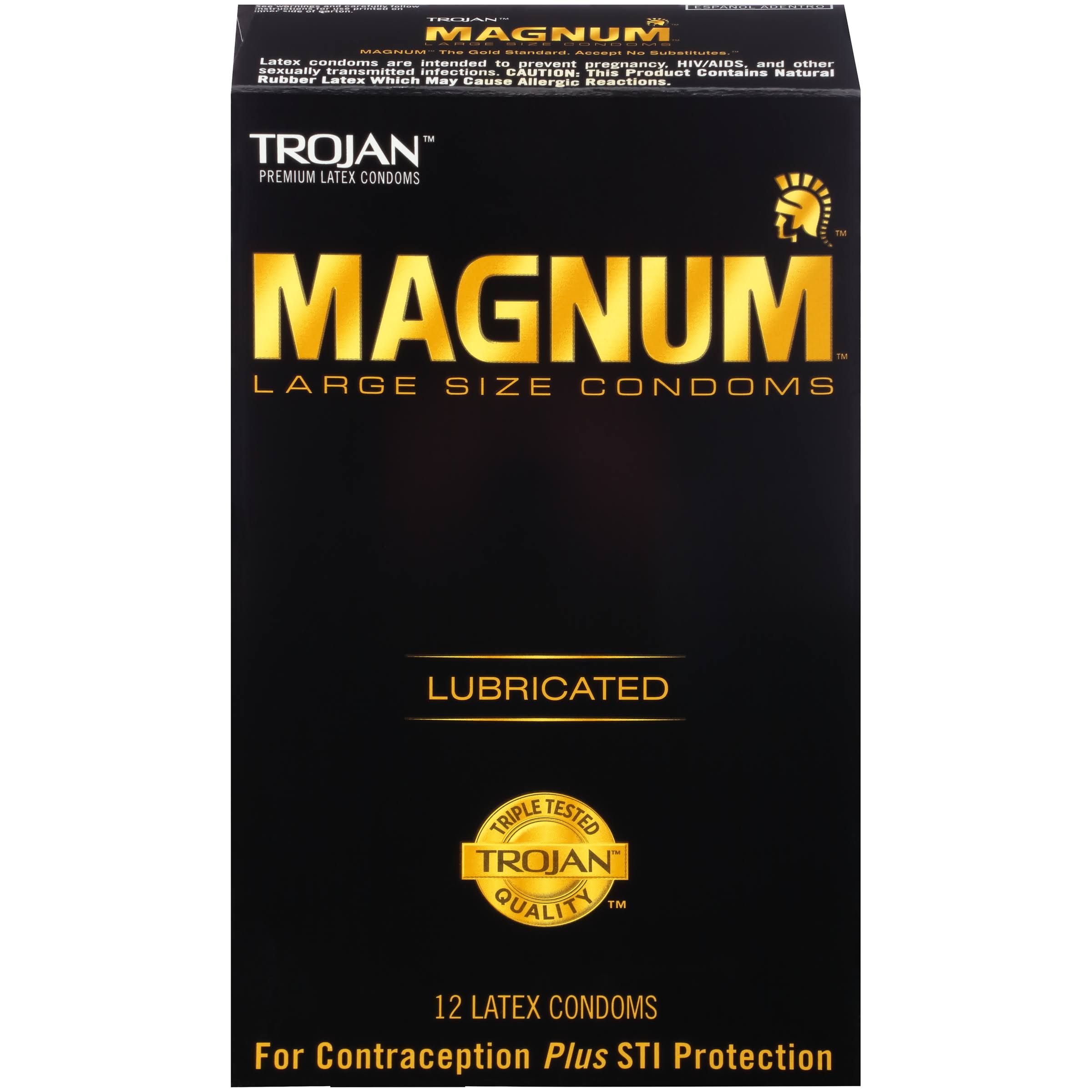Trojan Magnum Lubricated Latex Condoms - 12ct, Large