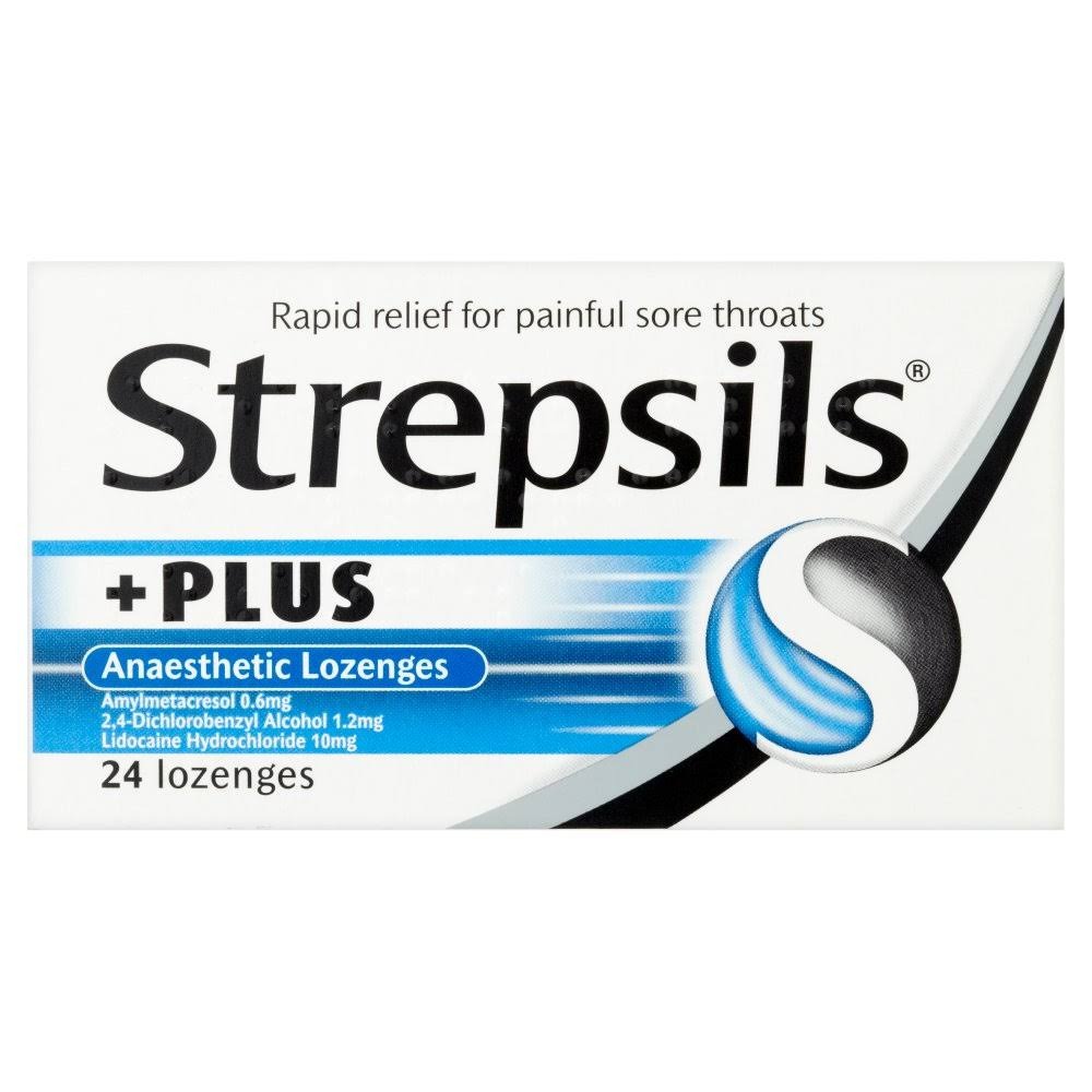 Strepsils Plus Anaesthetic Lozenges - 24 Lozenges