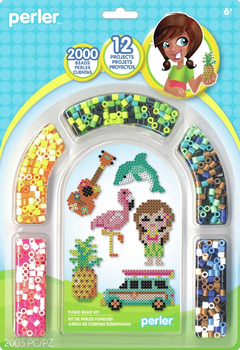 Perler Fuse Bead Activity Kit - Tropical Island Arch