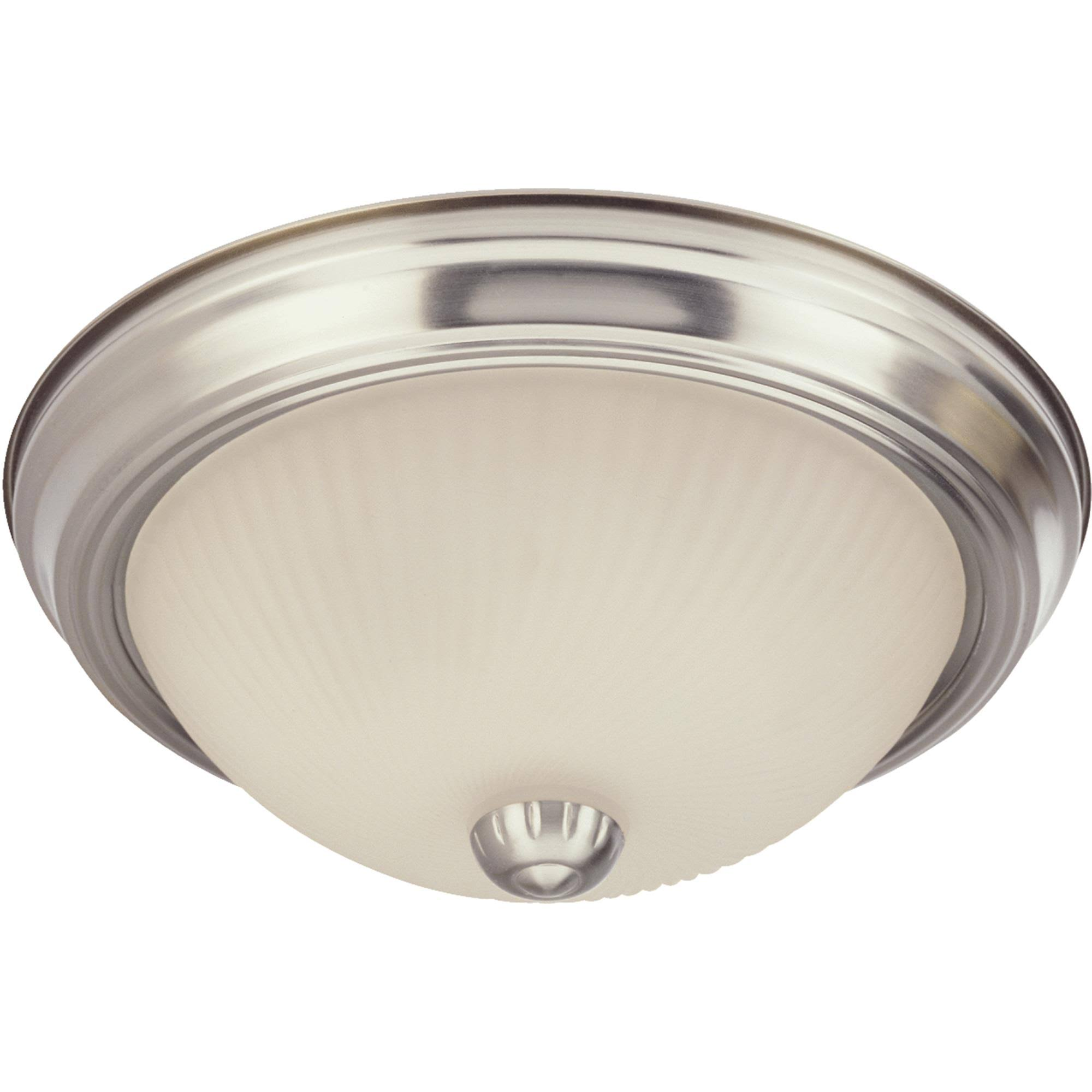 Westinghouse Flush Mount Ceiling Fixture - Nickel, 11''