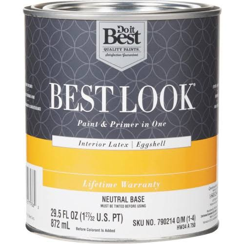 Best Look Latex Paint & Primer in One Eggshell Interior Wall Paint