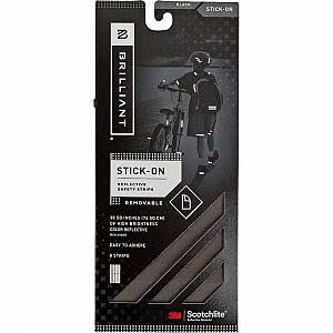 Brilliant Reflective Strips, Stick-On Black