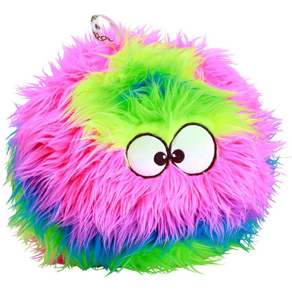 Furballz Rainbow Plush Dog Toy with Chew Guard Technology - Small, Rainbow