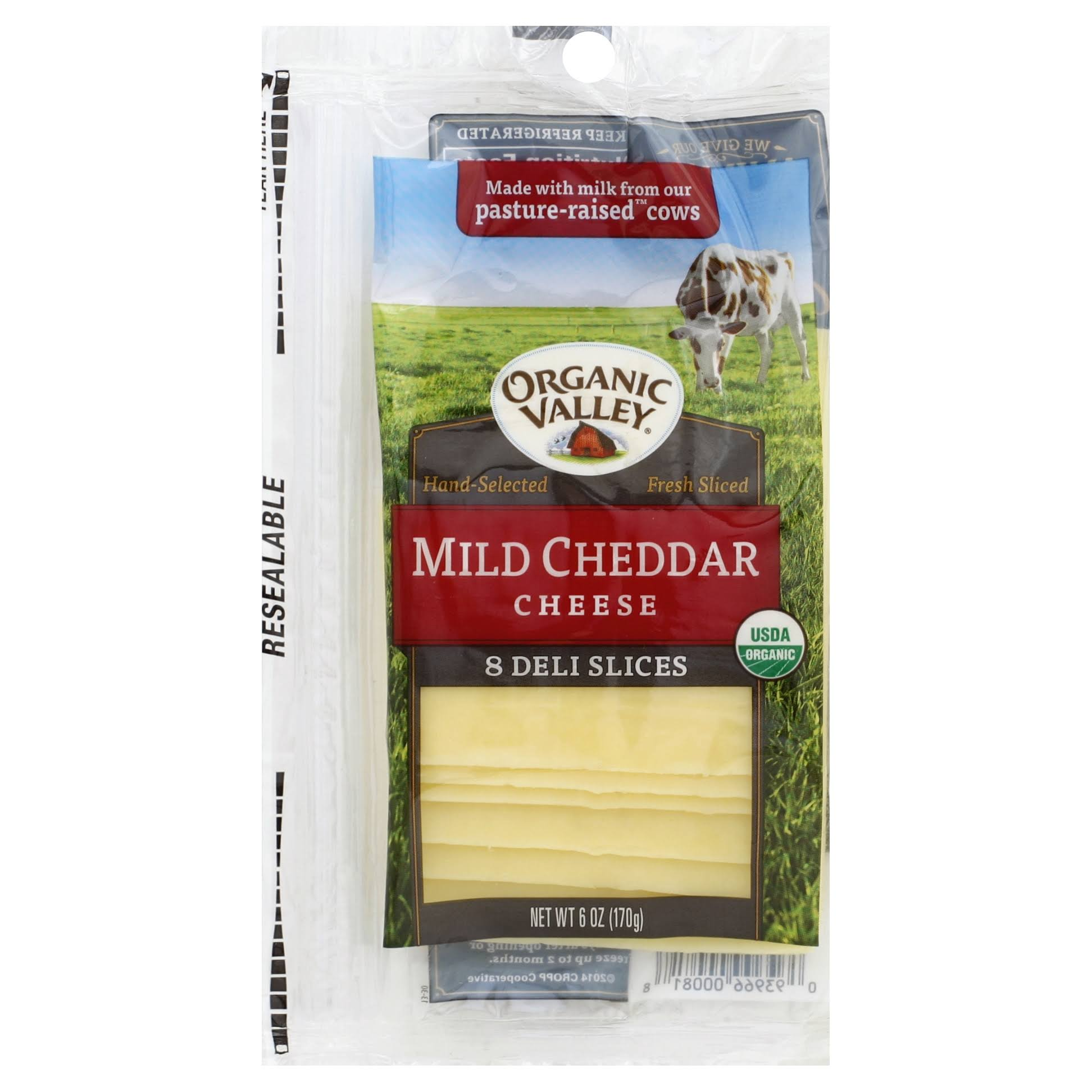 Organic Valley Slice Mild Cheddar Cheese - 6oz