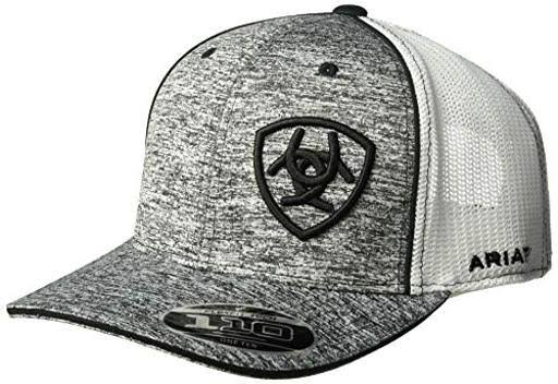 Ariat Men's Hat Baseball Cap - Heather Grey/Black