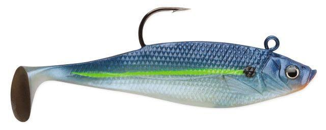 Storm Wildeye Swim Shad Fishing Lures - Blue Steel Shad, 3""