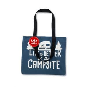 Camco Life Is Better at The Campsite Tote Bag - Blue/White