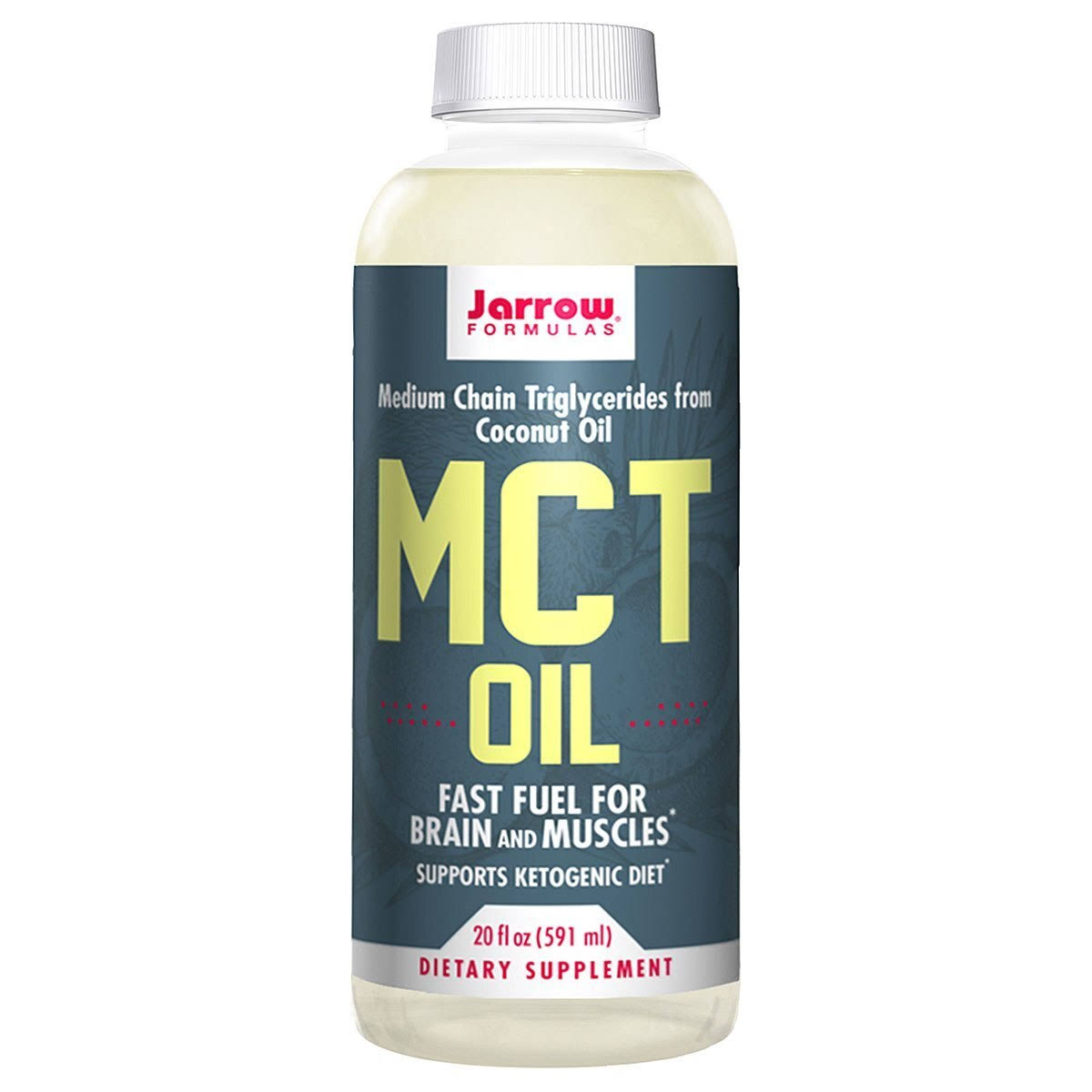 Jarrow Formulas MCT Oil Supports Brain and Muscles - 20 fl oz