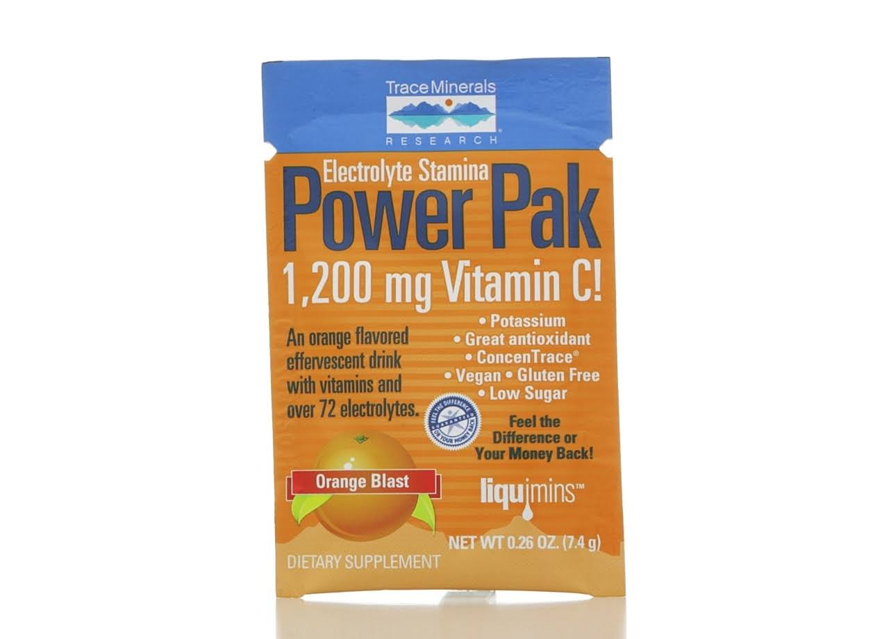Trace Minerals Electrolyte Stamina Power Pak Orange Blast Single Packet