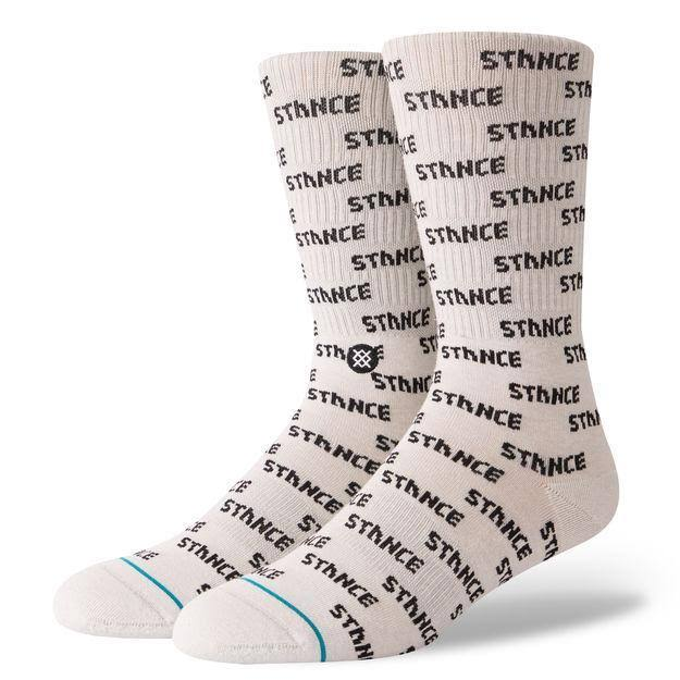 Stance Men's Repeat Socks, White, L