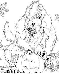 Scary Halloween Coloring Pages Online by Wolfman Coloring Pages Eume Werewolf Coloring Pages 06 Free