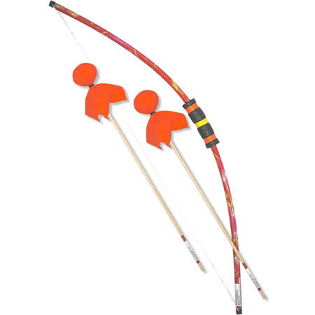 Two Bros Bows Archery Toy Set - Orange Tie-dye Combo, 1 Bow, 2 Arrows and 1 Bulls-eye