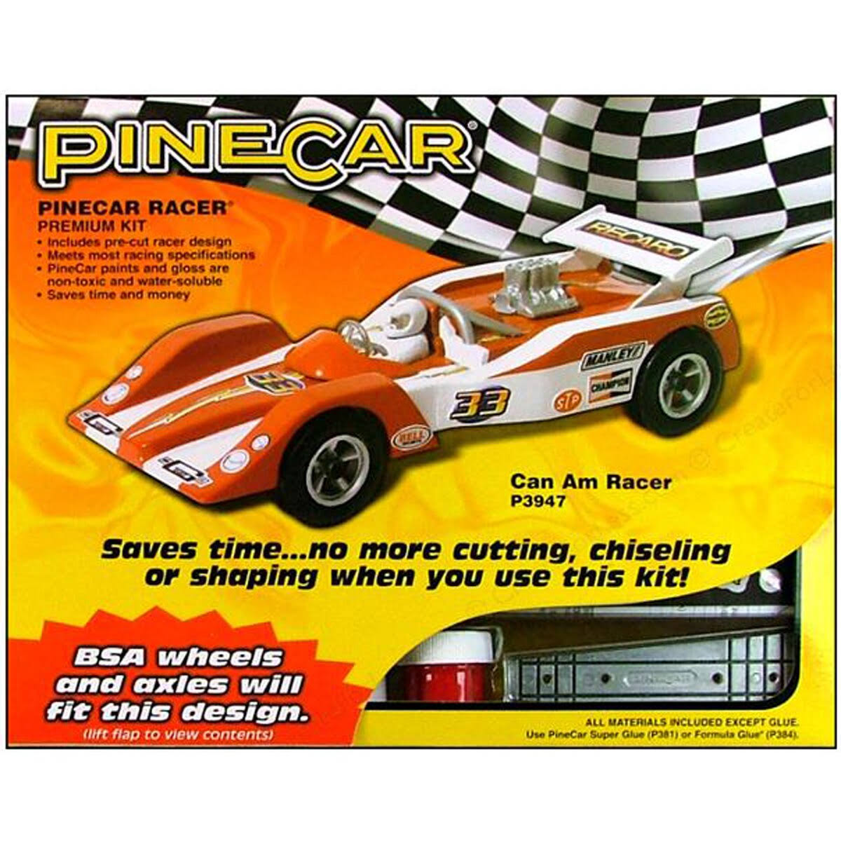 Pinecar P3947 Premium Can Am Racer Car Kit